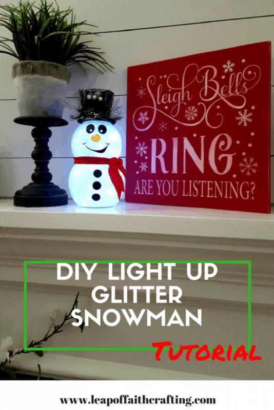diy glitter snowman tutorial x