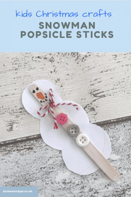 snowman popsicle sticks x
