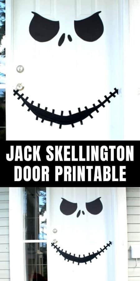 Jack Skellington Door Printable
