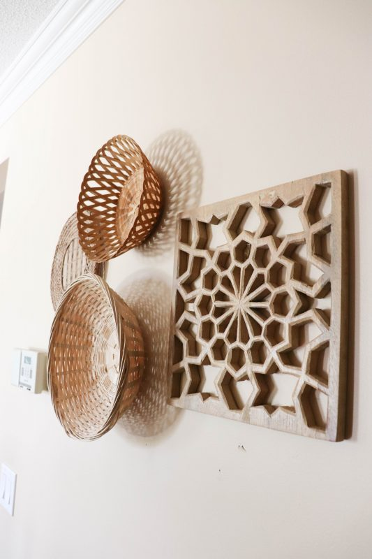 basket gallery wall