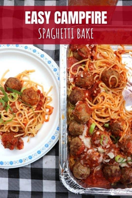 campfire spaghetti bake