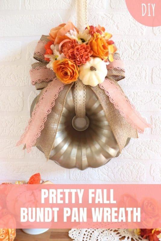 fall bundt pan wreath tutorial