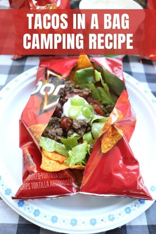 tacos in a bag camping recipe
