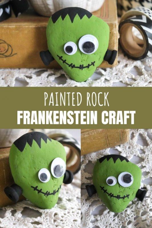 painted rock frankenstein craft