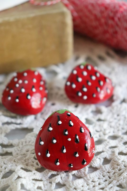 strawberry rock craft