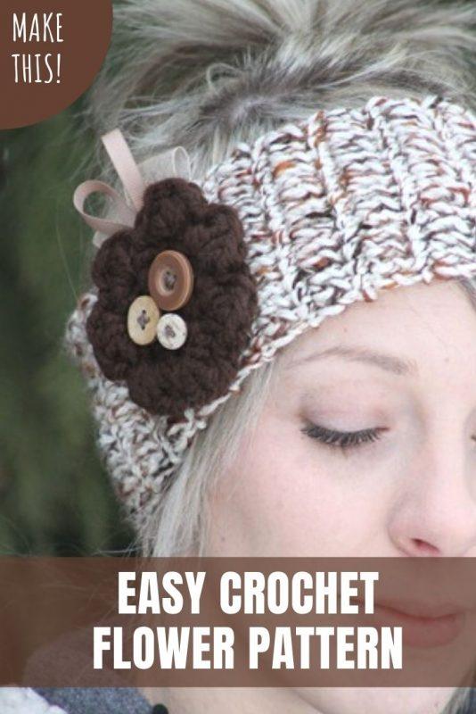 easy crochet flower pattern