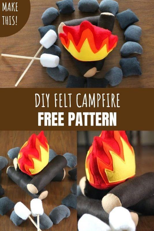 free felt campfire pattern