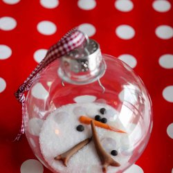 melting snowman ornament