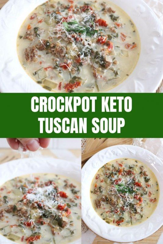 crockpost keto tuscan soup
