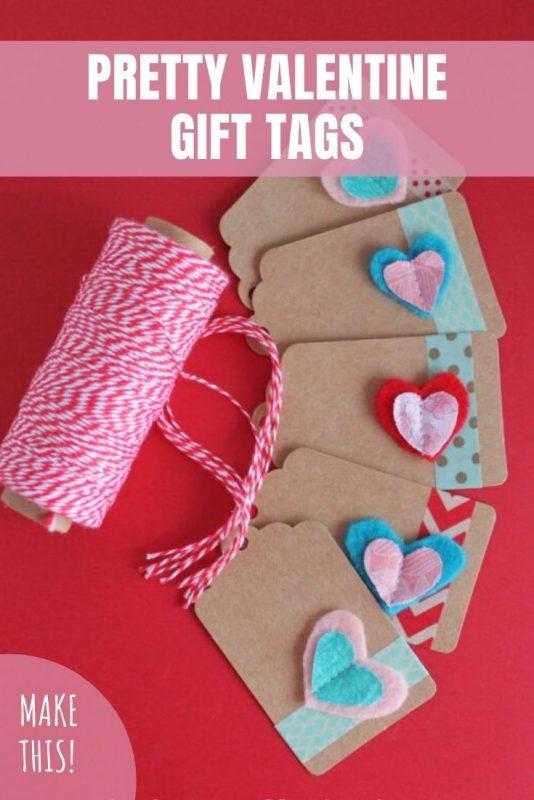 pretty valentine gift tags