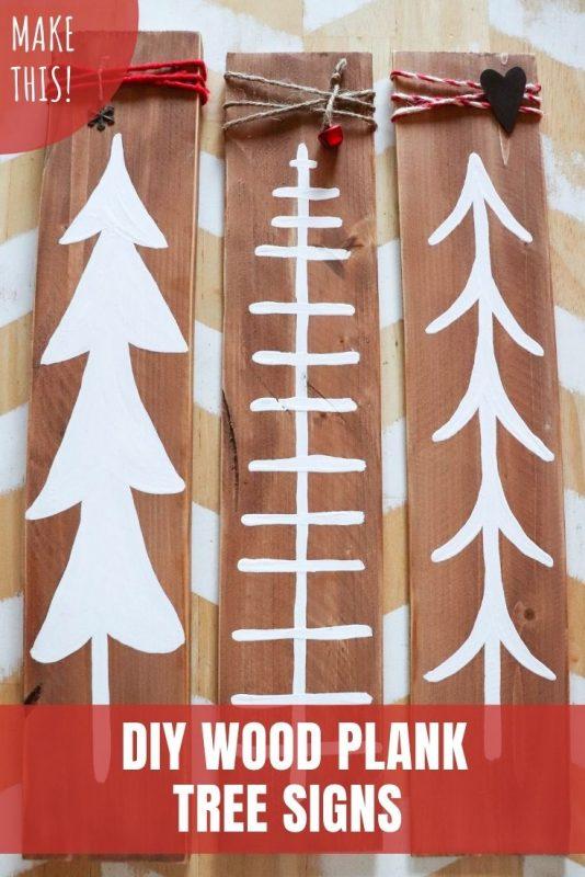 wood plank sign