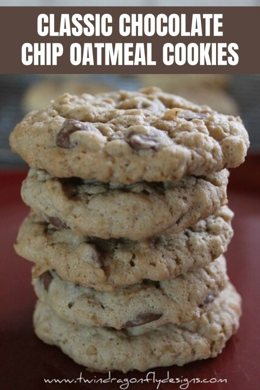 classic chocolate chip oatmeal cookies