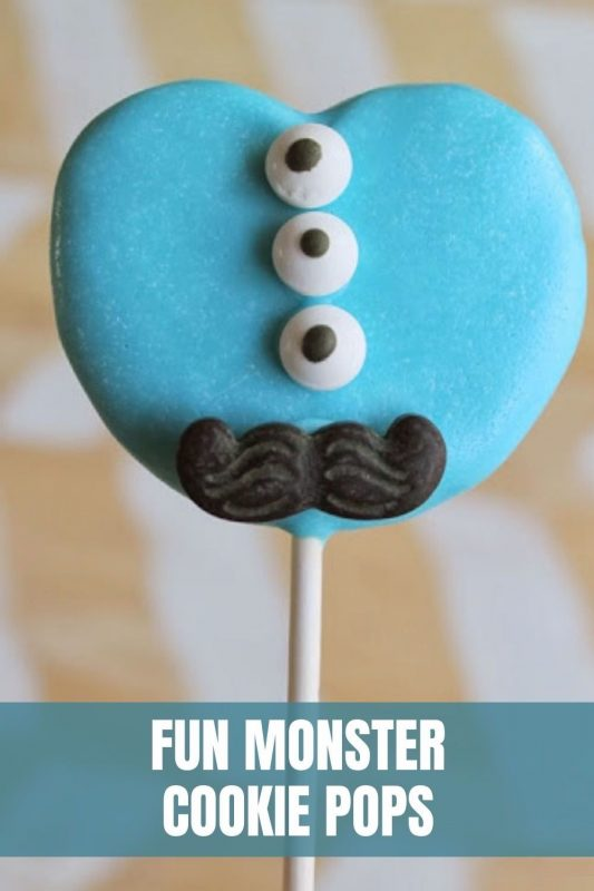 fun monster cookie pops