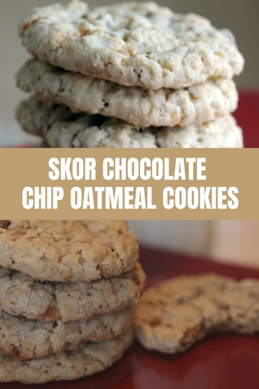 skor chocolate chip oatmeal cookie recipe