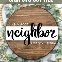 good neighbor sign svg