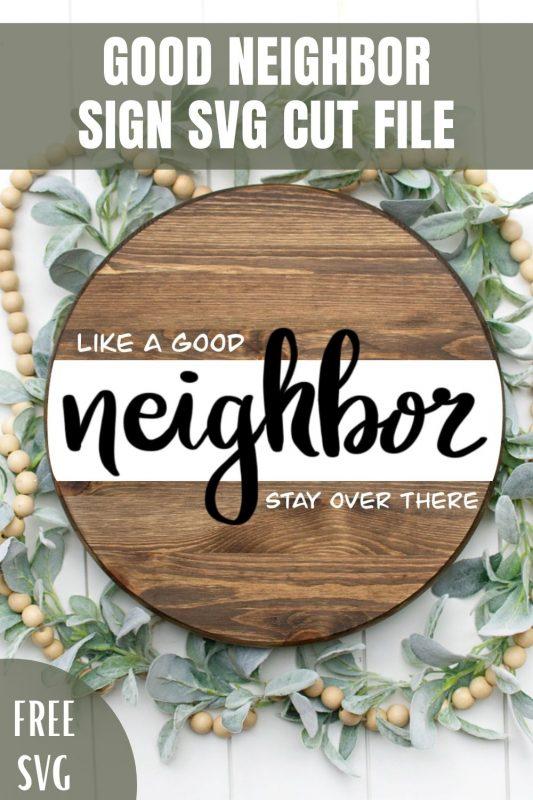 good neighbor sign svg