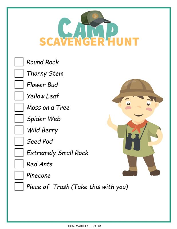 camp scavenger hunt