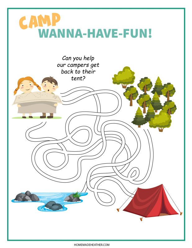 camping maze