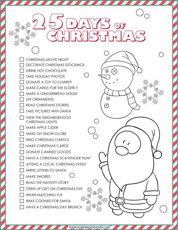 christmas activities printable