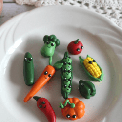 clay vegetable garden markers
