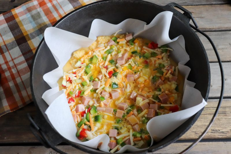 dutch oven breakfast bake