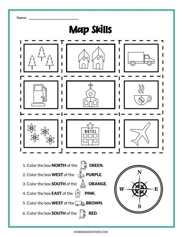 map skills printables