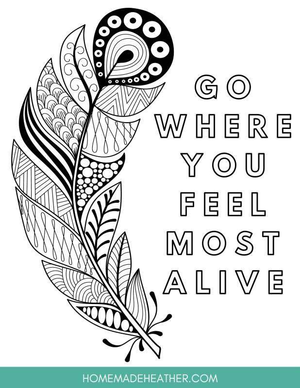 Free Nature Printable Coloring Pages Homemade Heather