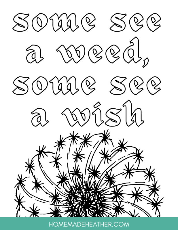 nature printable coloring page