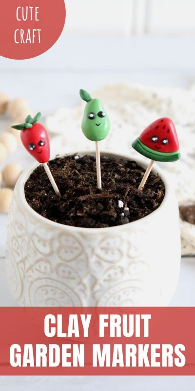 clay fruit garden markers
