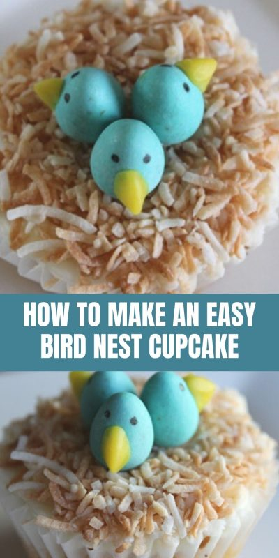how to make easy bird nest cupcakes