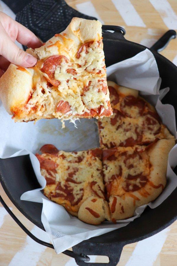 Campfire Dutch Oven Pizza Recipe