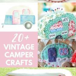 vintage camper crafts