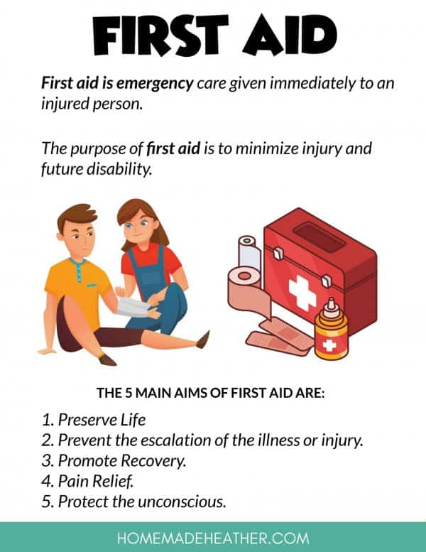 First Aid Printable Information Sheet