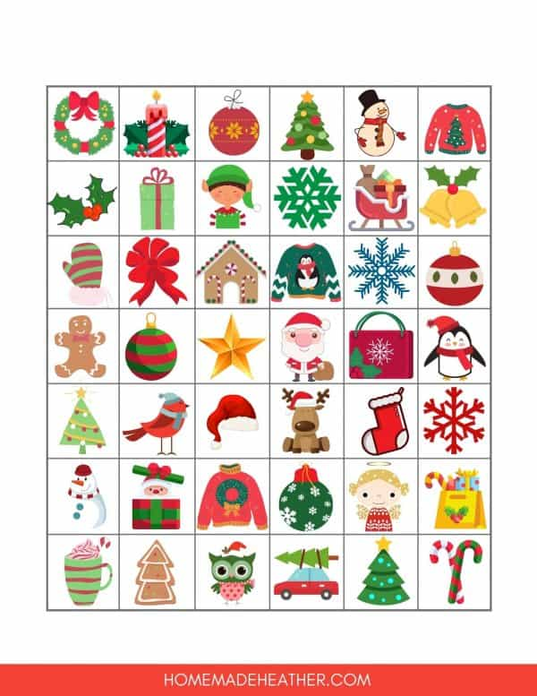 Free Holiday Bingo Printables