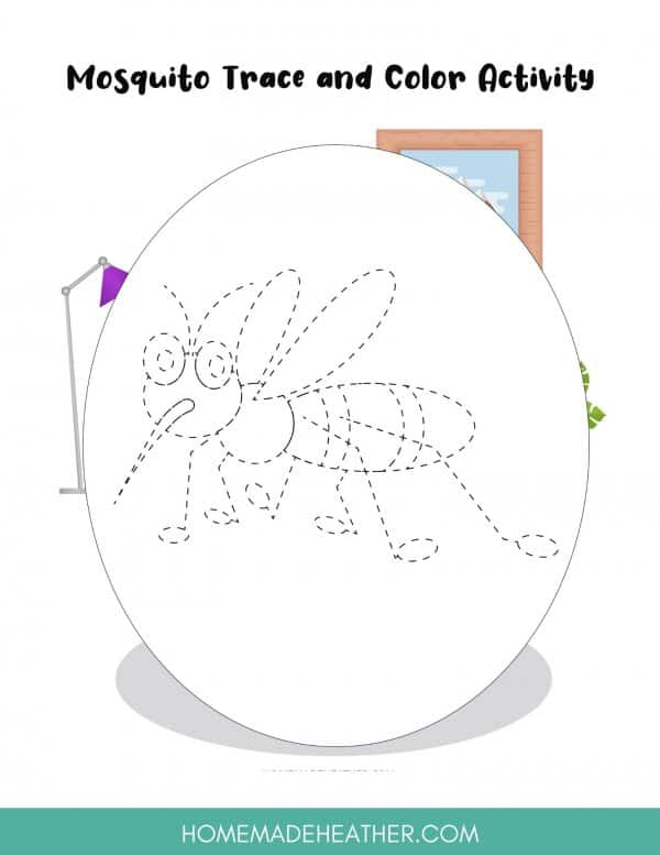 Mosquito Coloring Sheet