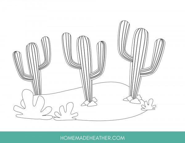Cactus Coloring Sheet