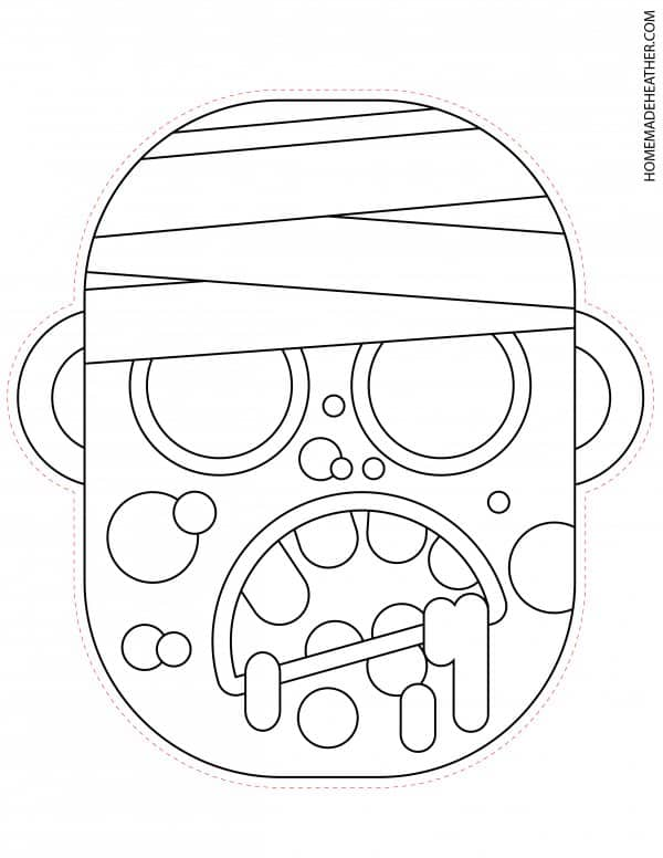 Free Halloween Zombie Mask Printable