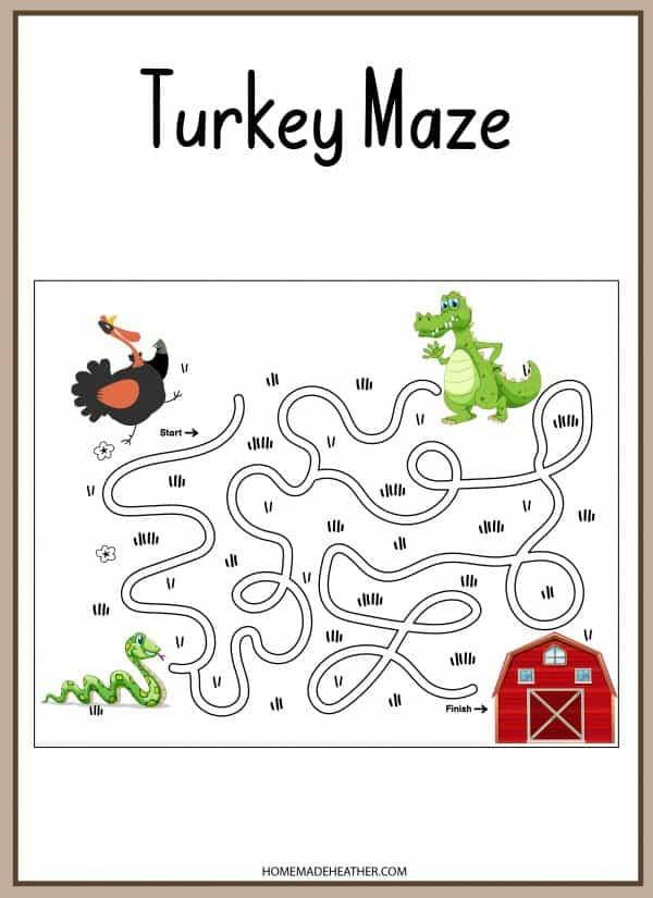 Turkey Maze Printable