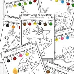 Free Christmas Color By Number Printables