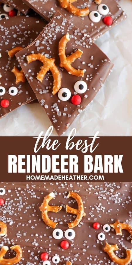The Best Chocolate Reindeer Bark