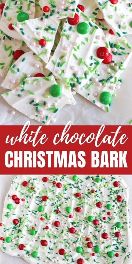 white chocolate Christmas bark recipe