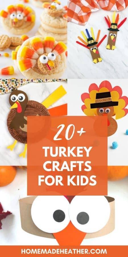 20+ Turkey Crafts for Kids