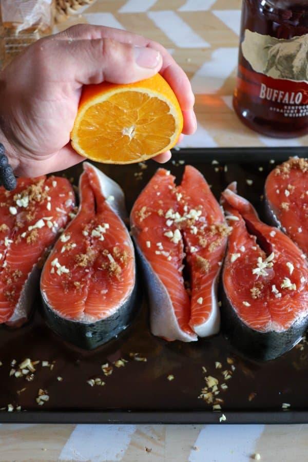 Salmon Steak Process