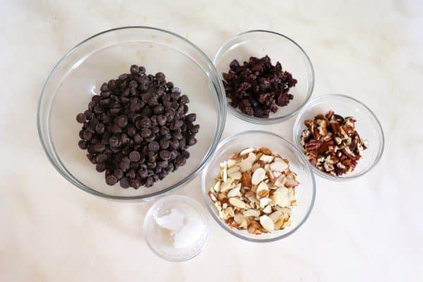 Dark Chocolate Bark Ingredients
