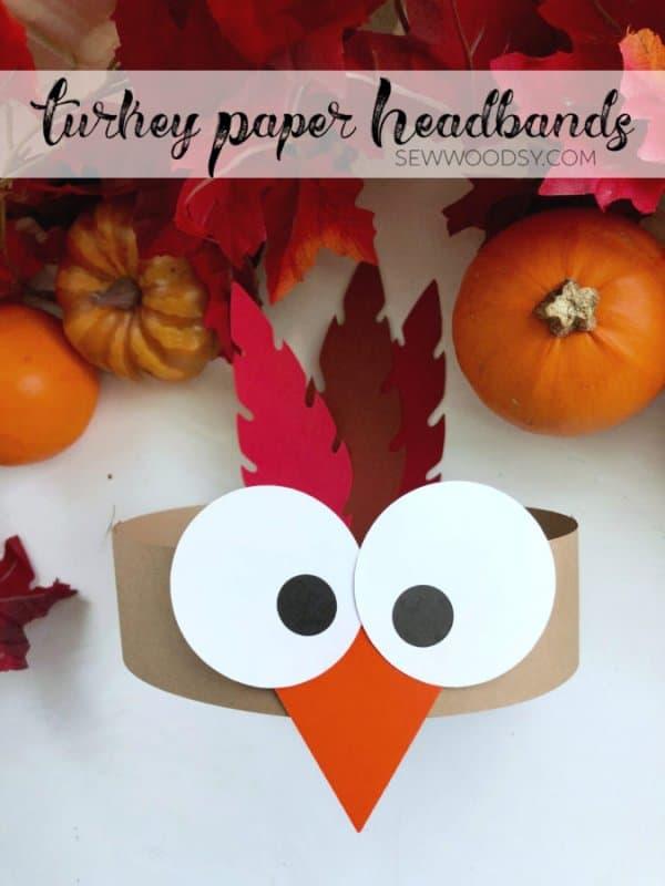 Turkey Paper Headband Craft