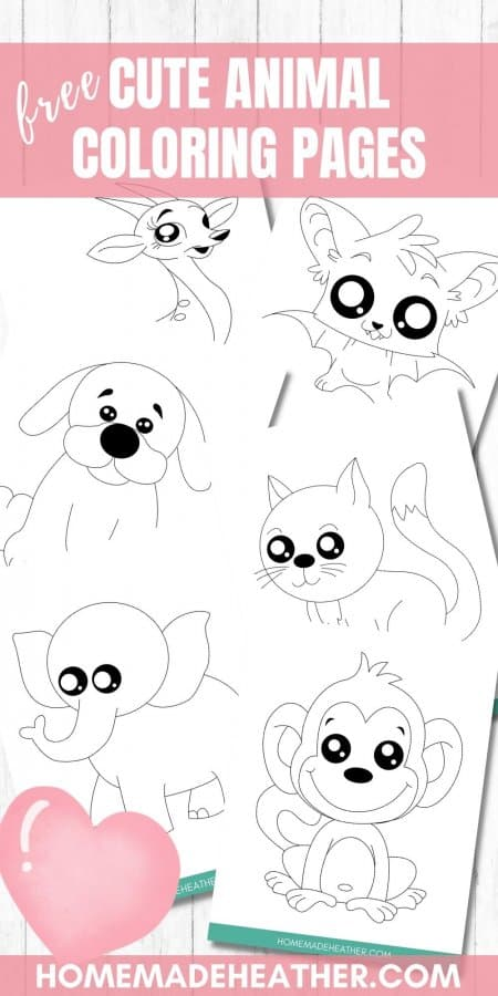 Free Cute Animal Coloring Pages