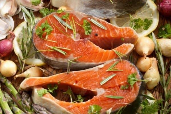 Pan Roasted Salmon Process