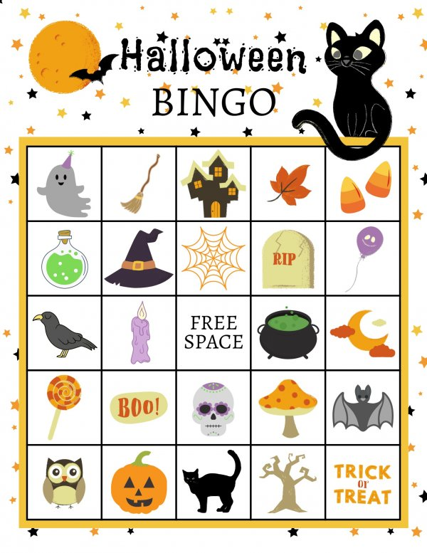 Free Halloween Bingo Card
