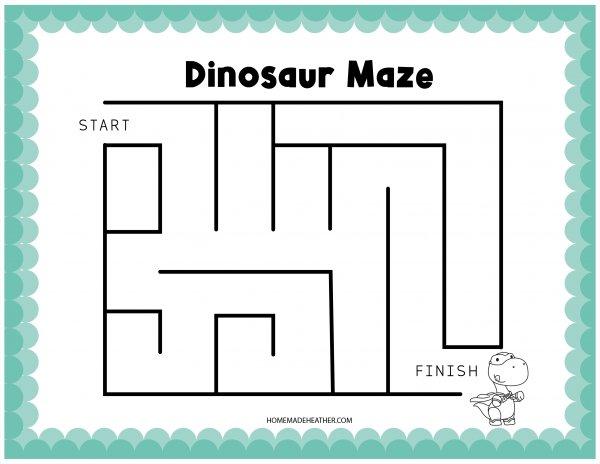 Dinosaur Activity Printable Maze