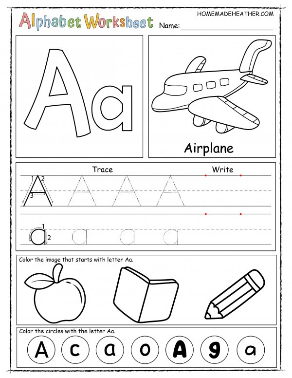 Letter A Printable Worksheet